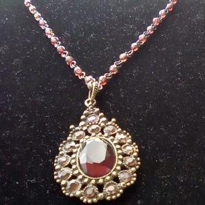 Avon. Beautiful Ruby Vintage Avon Necklace.